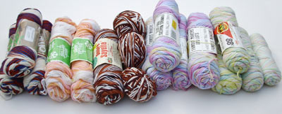 173D savers - variegated yarns