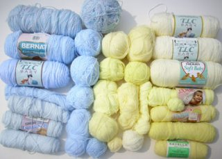 158C blue and yellow baby yarns