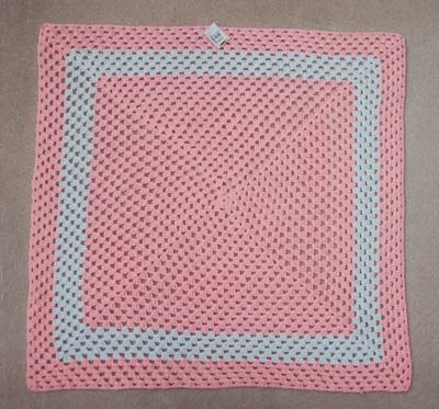 293 Big PINK Granny Square