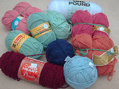 350 - yarn haul from Historical Society tag sale