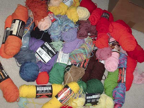 374 yarn pile
