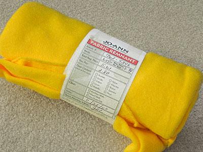 374 - Yellow fleece, .625 yd.