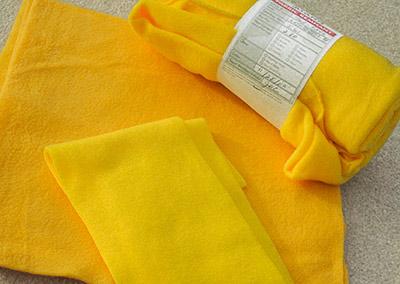 374-Yellow fleece - small pieces