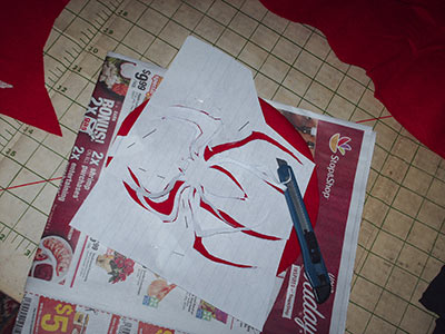379 14 cutting out Spidey