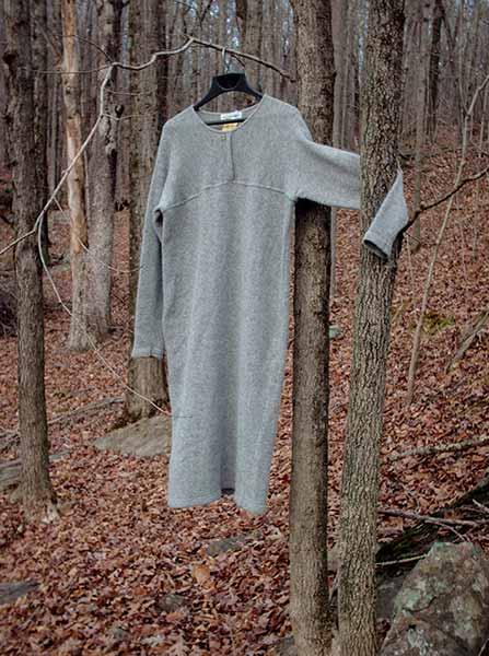 385 grey lambswool dress