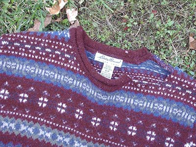 397 sweater - close