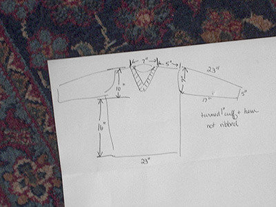 409-3 diagram of sweater