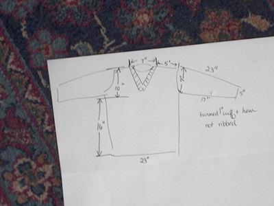 409-3 diagram of sweater