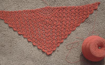 411 shawl with cone of thread