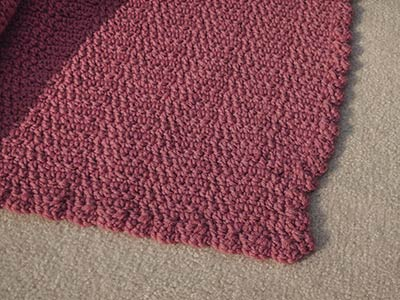 412 wonky corner on blanket