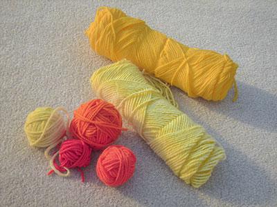 415 leftover yarns
