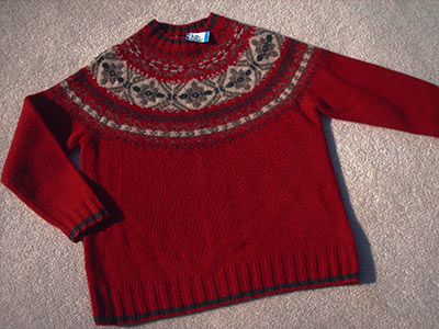 441 red wool sweater