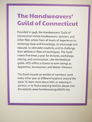 449 CT weaving guild sign