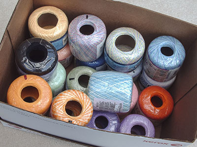 469 crochet cotton in box