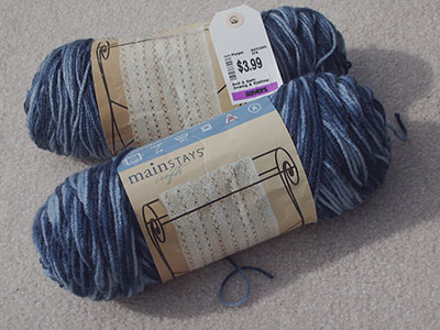 451 two skeins vrgtd blue