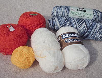 455 acrylic yarn