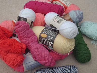 455A yarn pile