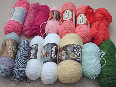 455A sorted yarn colors
