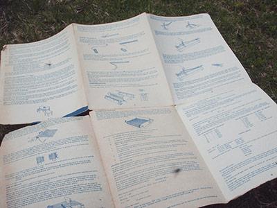 458 direction sheet
