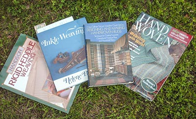 463 three more weaving books and a mag