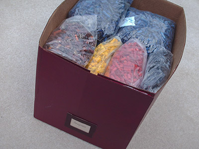 464 box labeled 'Crayons'