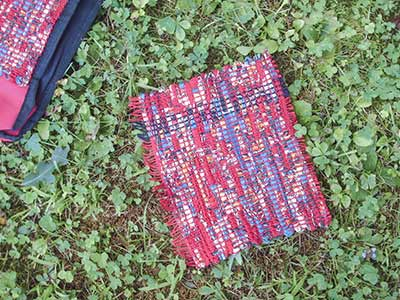473 'rag' weaving sample