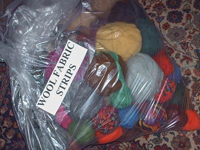 482 4 bag of wool strips