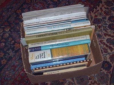 482 box of weaving books