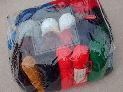 496 comforter bag full of yarn
