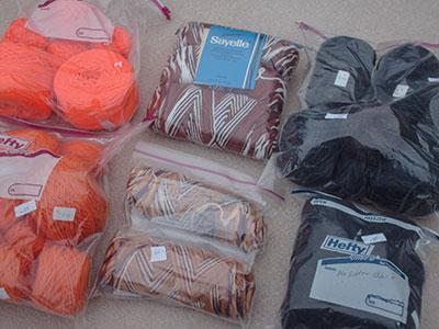 496 ziplocs of yarn