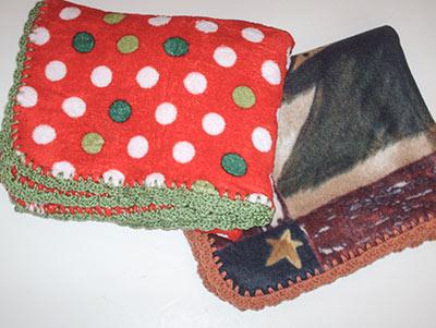 514 Two Christmasy fleece blanket