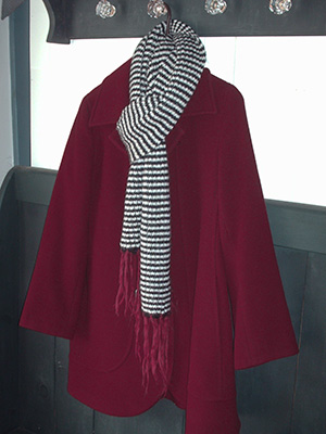 542 coat and scarf