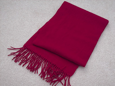 542 red scarf