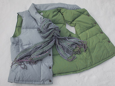 635 old vest with scarf