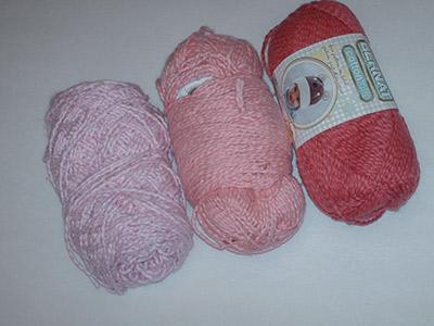 650 3 pink yarns
